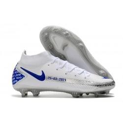 Buty 2021 Nike Phantom GT Elite DF FG Biały Czarny