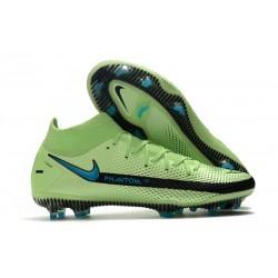 Buty 2021 Nike Phantom GT Elite DF FG Zielony Niebieski