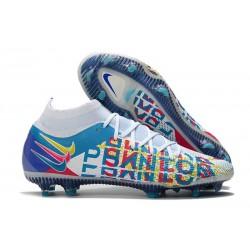 Buty 2021 Nike Phantom GT Elite DF FG Biały Niebieski Niebieski Zawistny