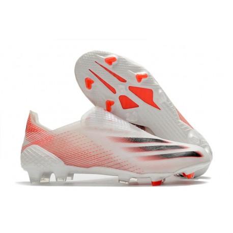 Buty Piłkarskie adidas X Ghosted + FG Biały Czerwony Czarny