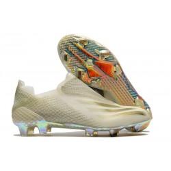 Buty Piłkarskie adidas X Ghosted + FG Biały Złoty