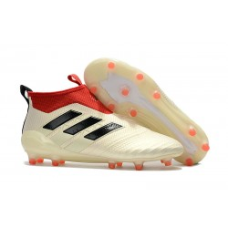 Buty piłkarskie - Tanie Adidas ACE 17+ PureControl FG Biały Czarny Czerwony