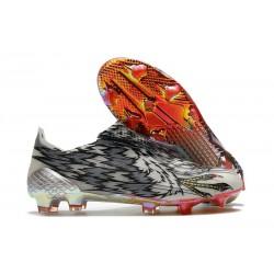 Buty Piłkarskie adidas X Ghosted + FG Czarny Biały Czerwony