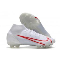 Nike Mercurial Superfly 8 Elite FG Biały Czerwony