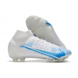 Nike Mercurial Superfly VIII Elite FG 2021 Biały Niebieski