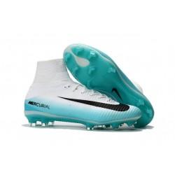 Sklep Buty piłkarskie Nike Mercurial Superfly V FG Biały Niebieski Czarny