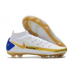 Nike Phantom GT Elite Dynamic Fit FG Biały Złoto Niebieski