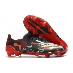 Korki Piłkarskie adidas X Ghosted.1 FG Czarny Czerwony Złoto