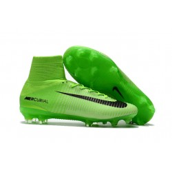 Buty piłkarskie Meskie Nike Mercurial Superfly 5 FG Elektryczny Zielony Czarny Zielony