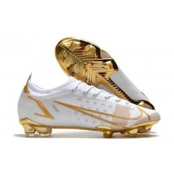 Buty Nike Mercurial Vapor XIV Elite FG Biały Złoto