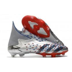 Buty adidas Predator Freak+ FG Srebro Czarny Czerwony