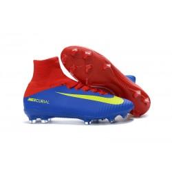 Korki Piłkarskie - Tanie Nike Mercurial Superfly V FG Niebieski Czerwony ŻÓłty